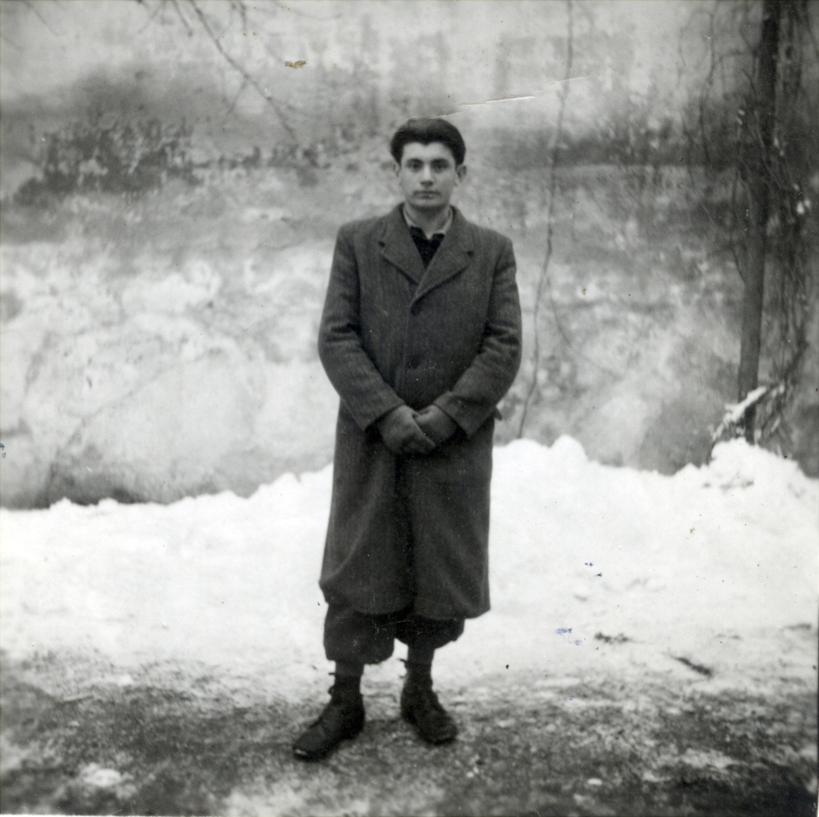Joseph Fruchter stands in the snow.