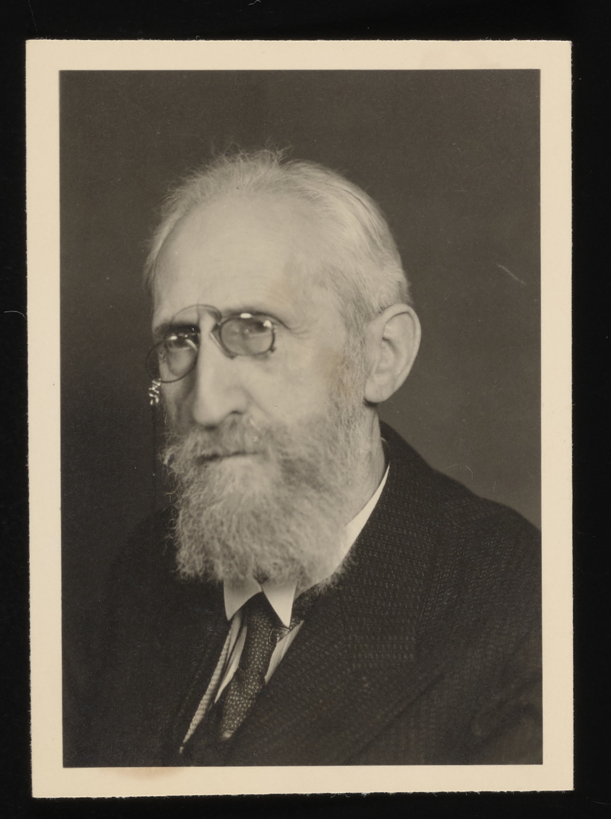 Identification portrait of a German Jew taken for his Kennkarte.   Pictured is Dr. Max Lichtenstein, a prominent lawyer and donor's grandfather, who perished in Theresienstadt in 1942.