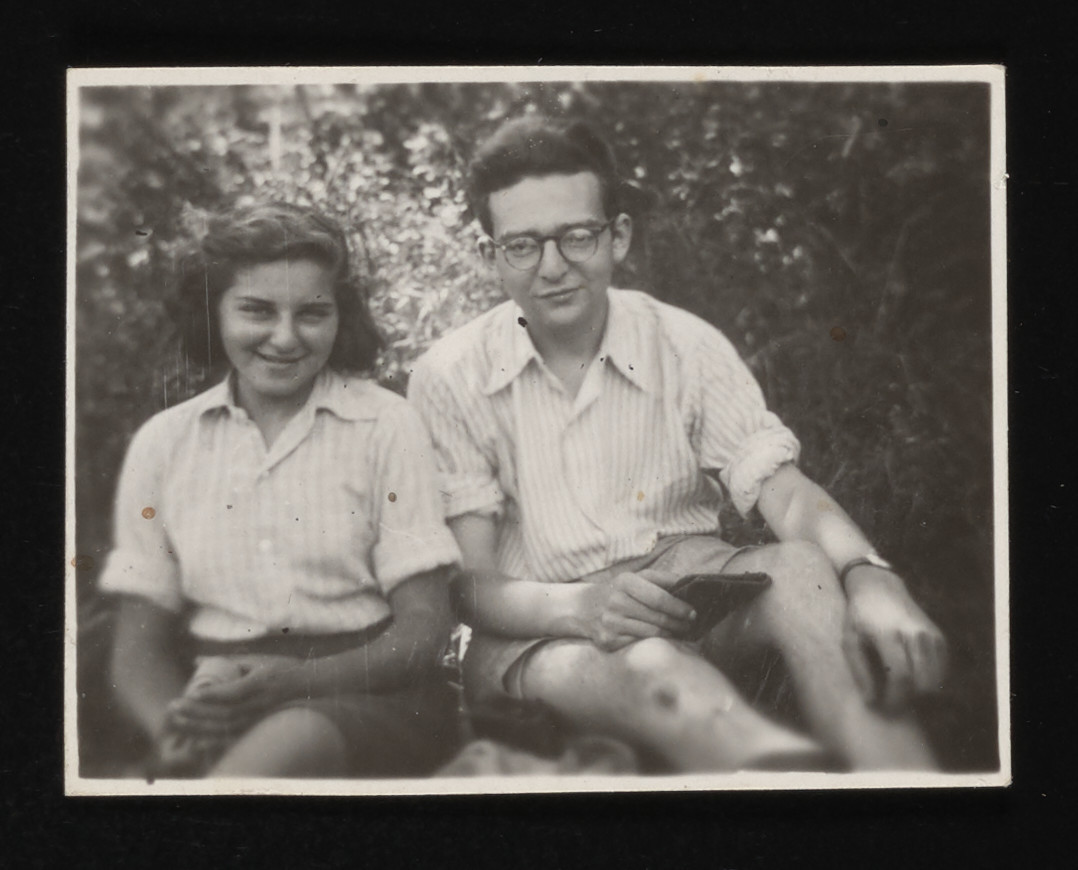 Dela Hochberger and Manfred Kamlet in the La Hille children's home.  Dela was eventually deported and murdered.
