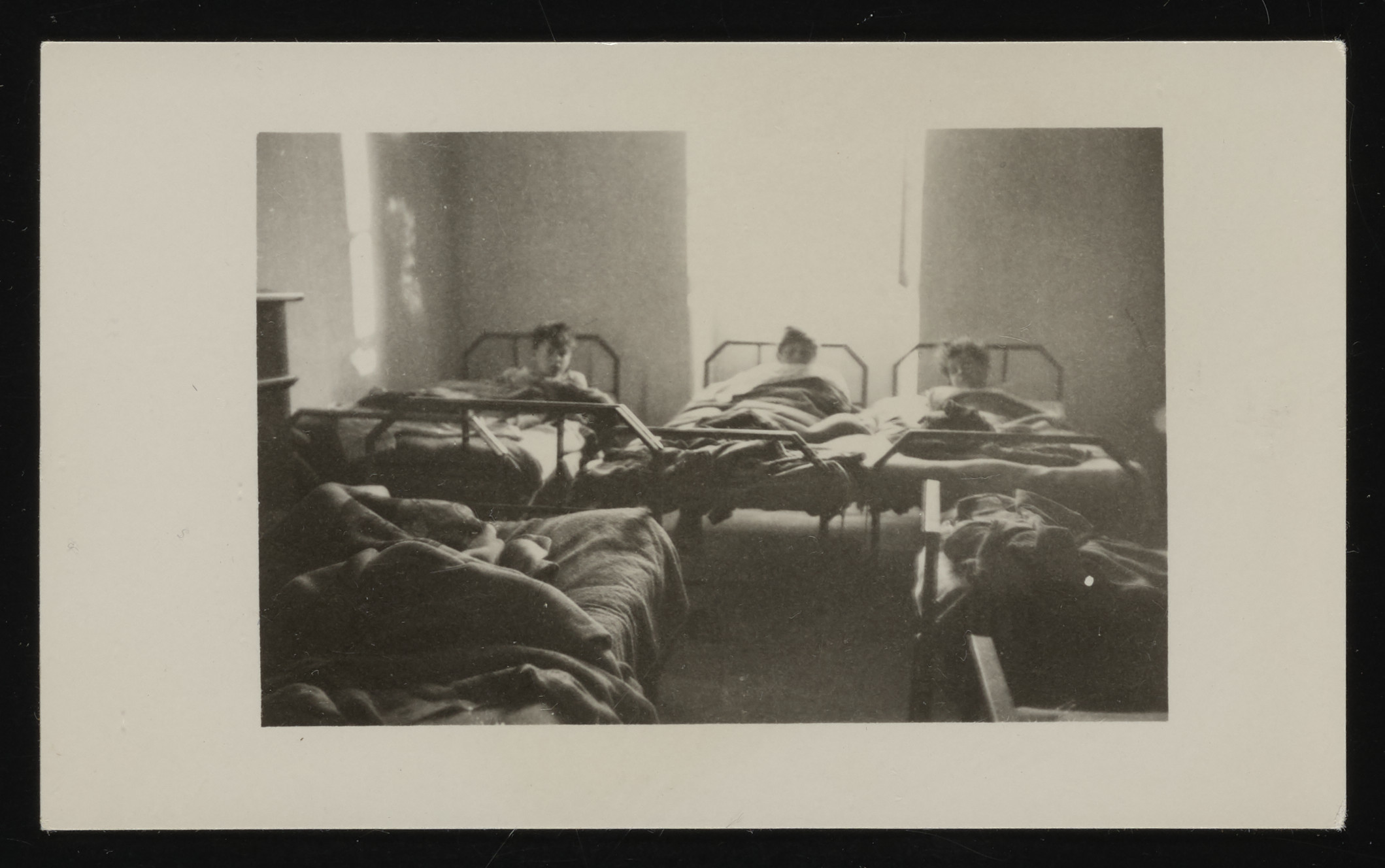 Younger boys share a bedroom in the La Hille children's home.