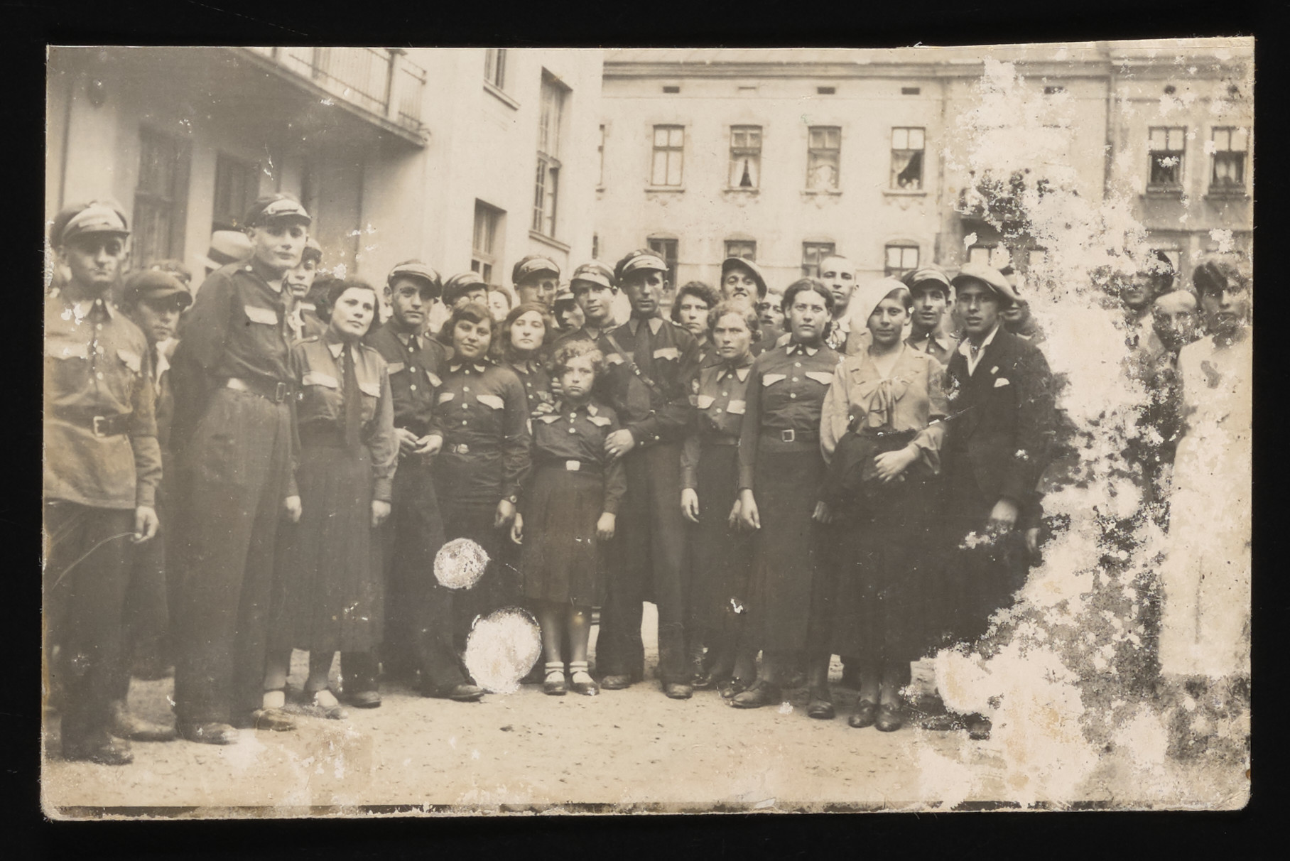 Group portrait of members of the Betar Zionist  youth organization in Kolbuszowa.