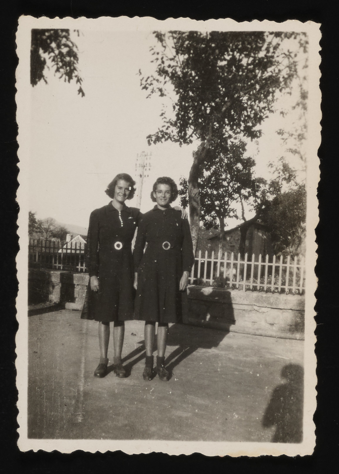 Portrait of the Gouthier twins, two Jewish girls hiding in Le Chambon.