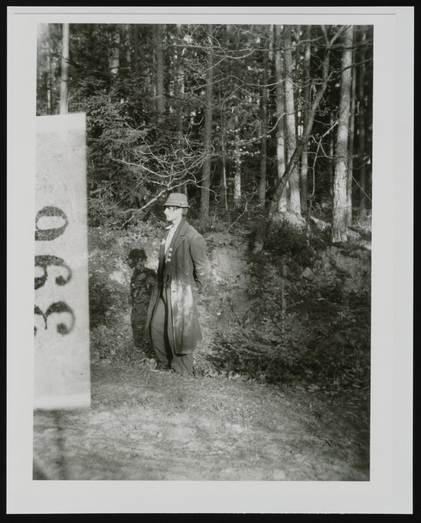 Jan Sowka awaits execution in the forest near Buchenwald concentration camp.