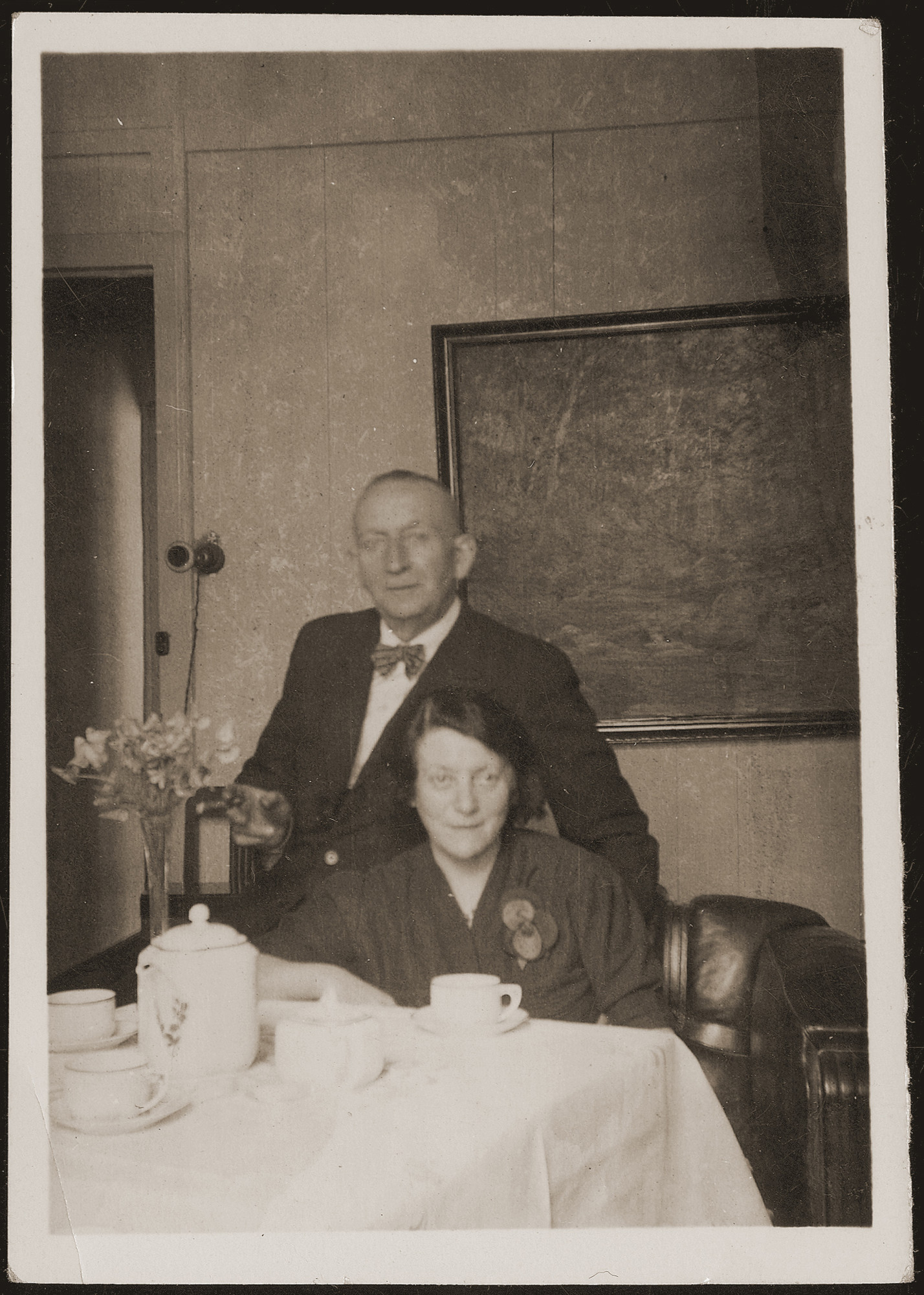Siegfried and Regina Jacobsberg at their home in Shanghai.