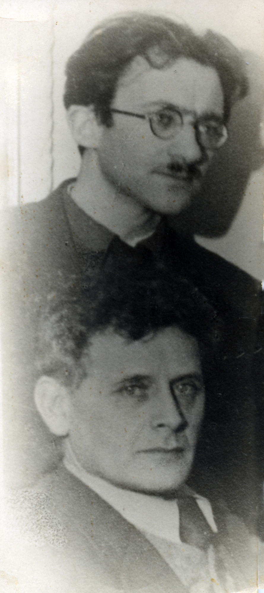 Avraham Sutzkever with Russian Jewish poet and playwright Peretz Markish.