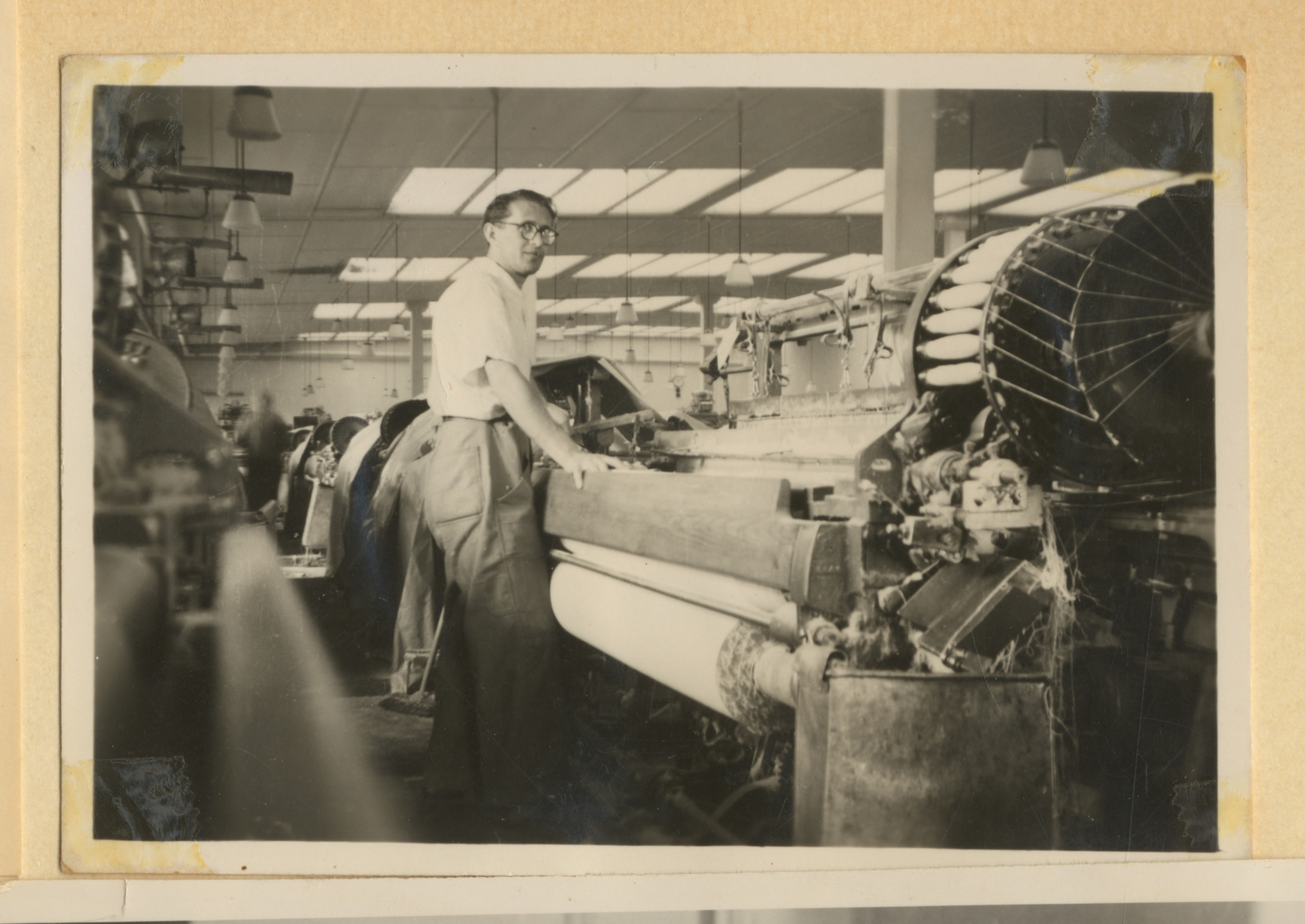 Mayer Spiro works at a textile factory, possibly in Cernauti.