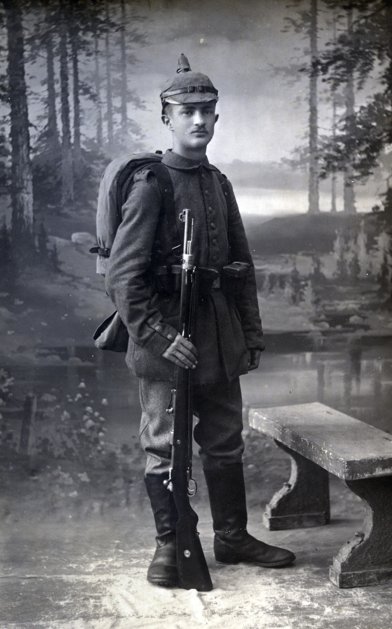 Portrait of Georg Spiro in the German army in WWI.