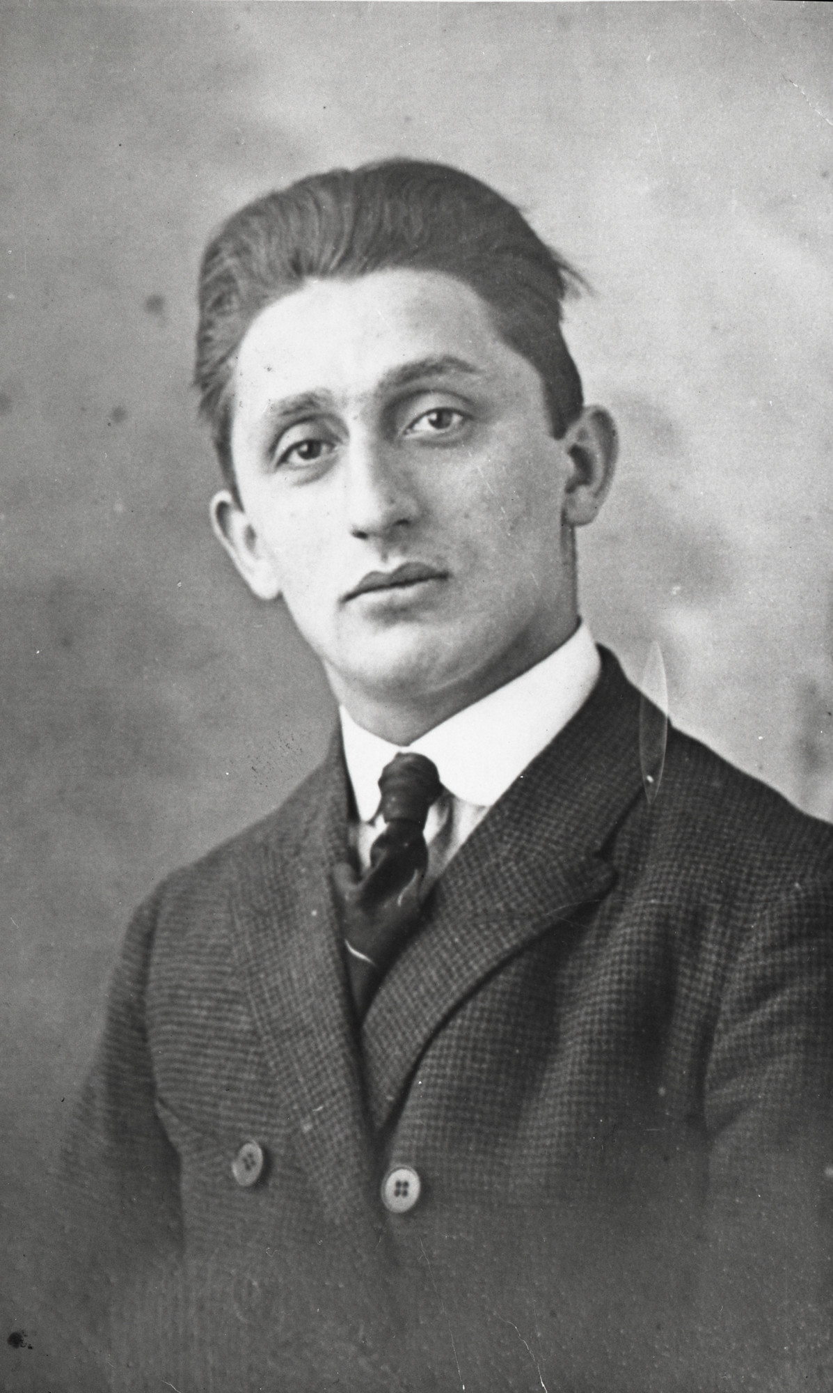 Portrait of Isaac Stopper.  Isaac perished in Auschwitz on May 31, 1944.