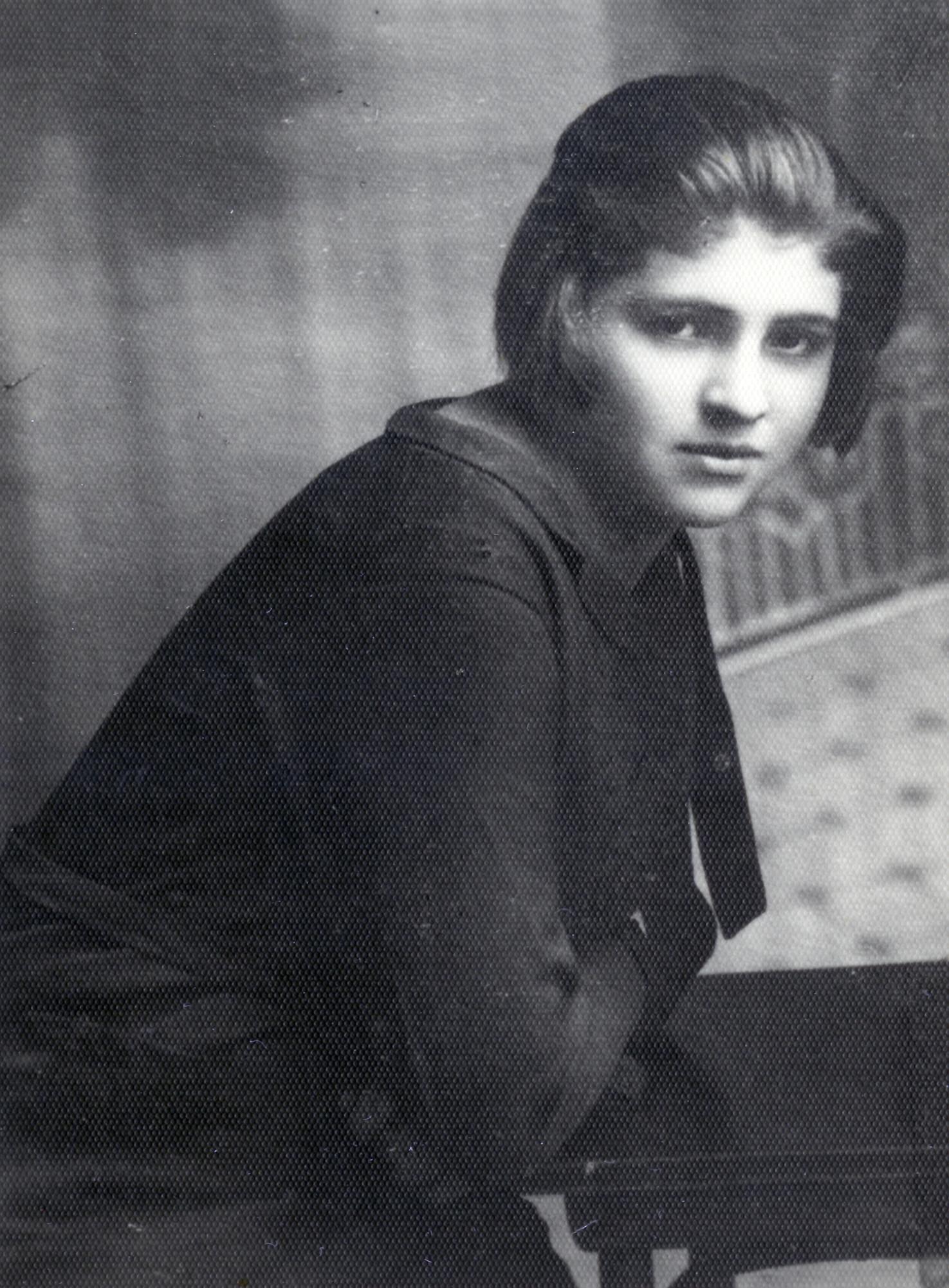 Portrait of Luba (Lipka) Danishevski.  Luba perished in Auschwitz with her three-year-old son.