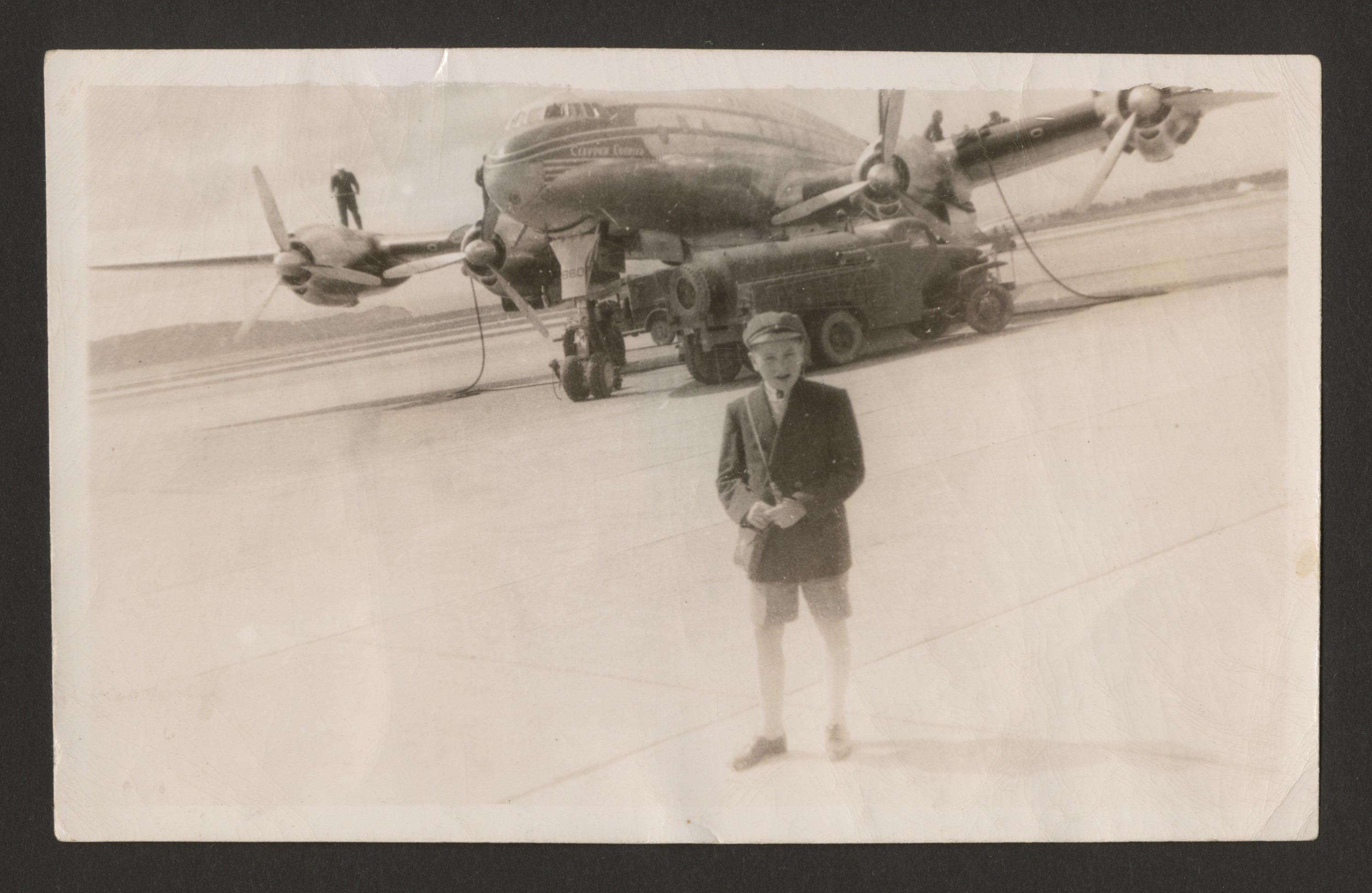 A young Belgian Jewish survivor on a stop-over in Ireland, on his way to the United States.    Pictured is Charles Srebnik.