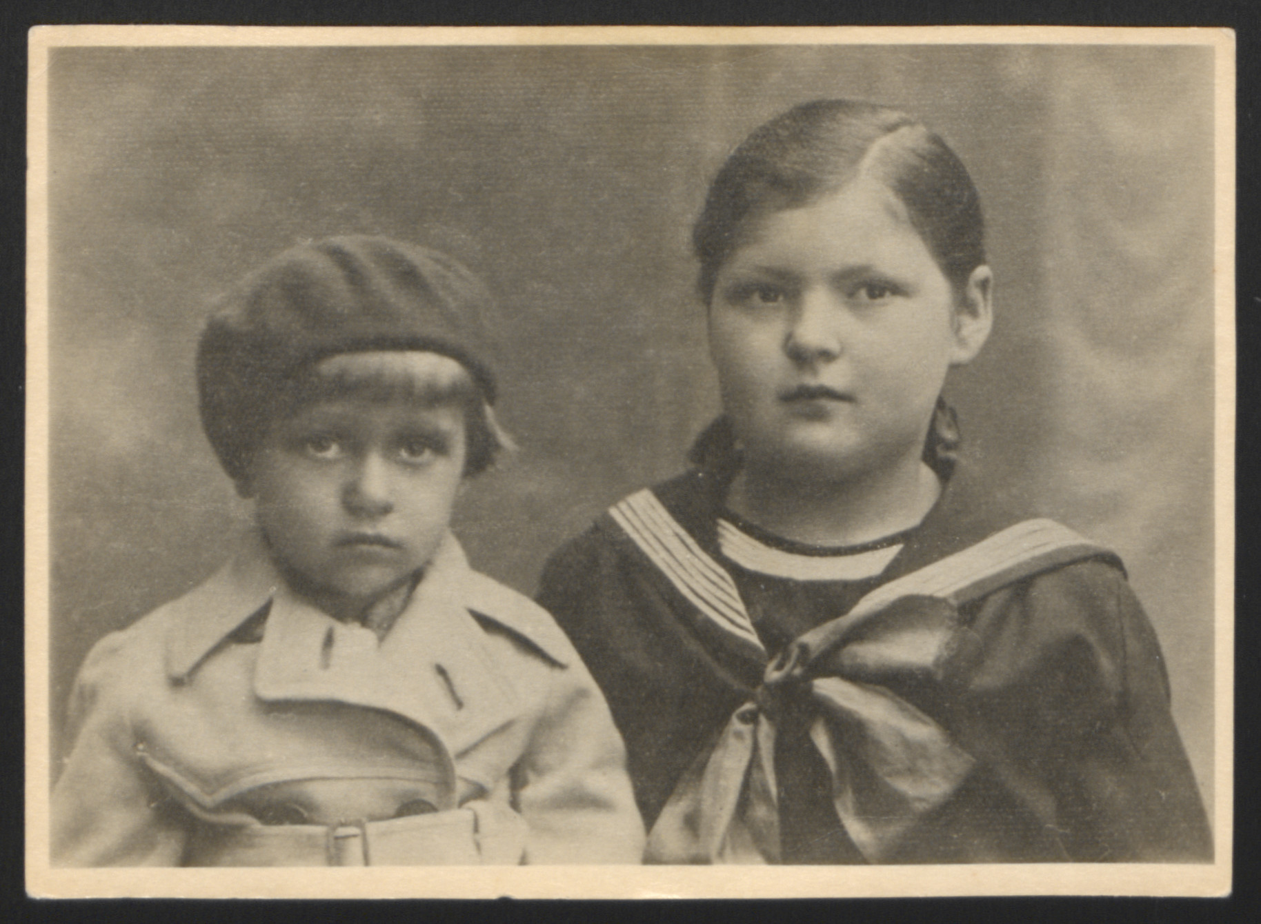 Sarah and Aaron Turek pose for a studio portrait in 1936.  They were killed in Majdanek seven years later.