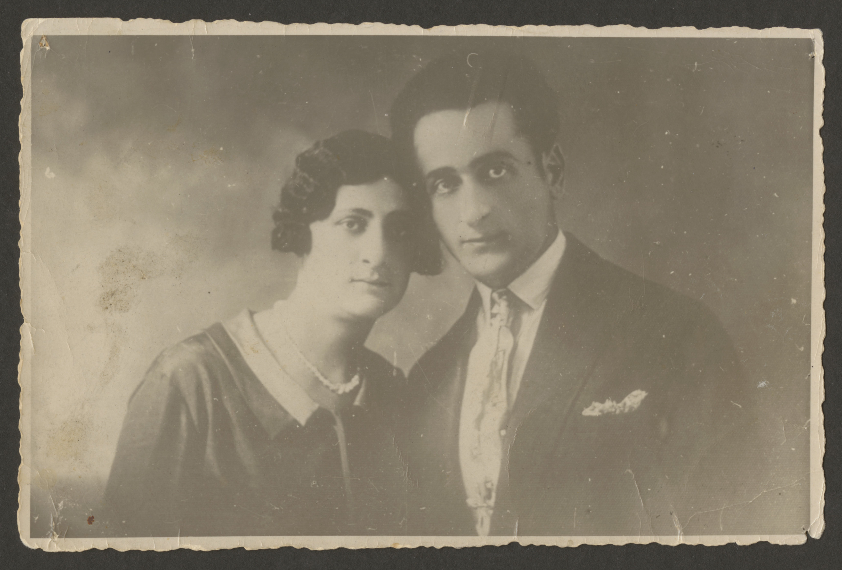 Studio of Motl Liebman (brother of Ann Goldman) and his wife.  both were later murdered in the Holocaust.