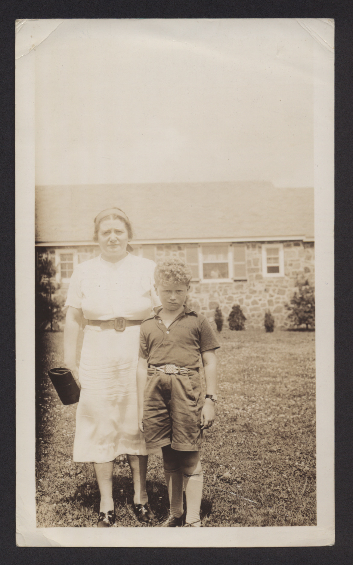 Erwin Tepper and his paternal aunt Blima Eigenmacht, at the Brith Shalom children's camp near Philadelphia.