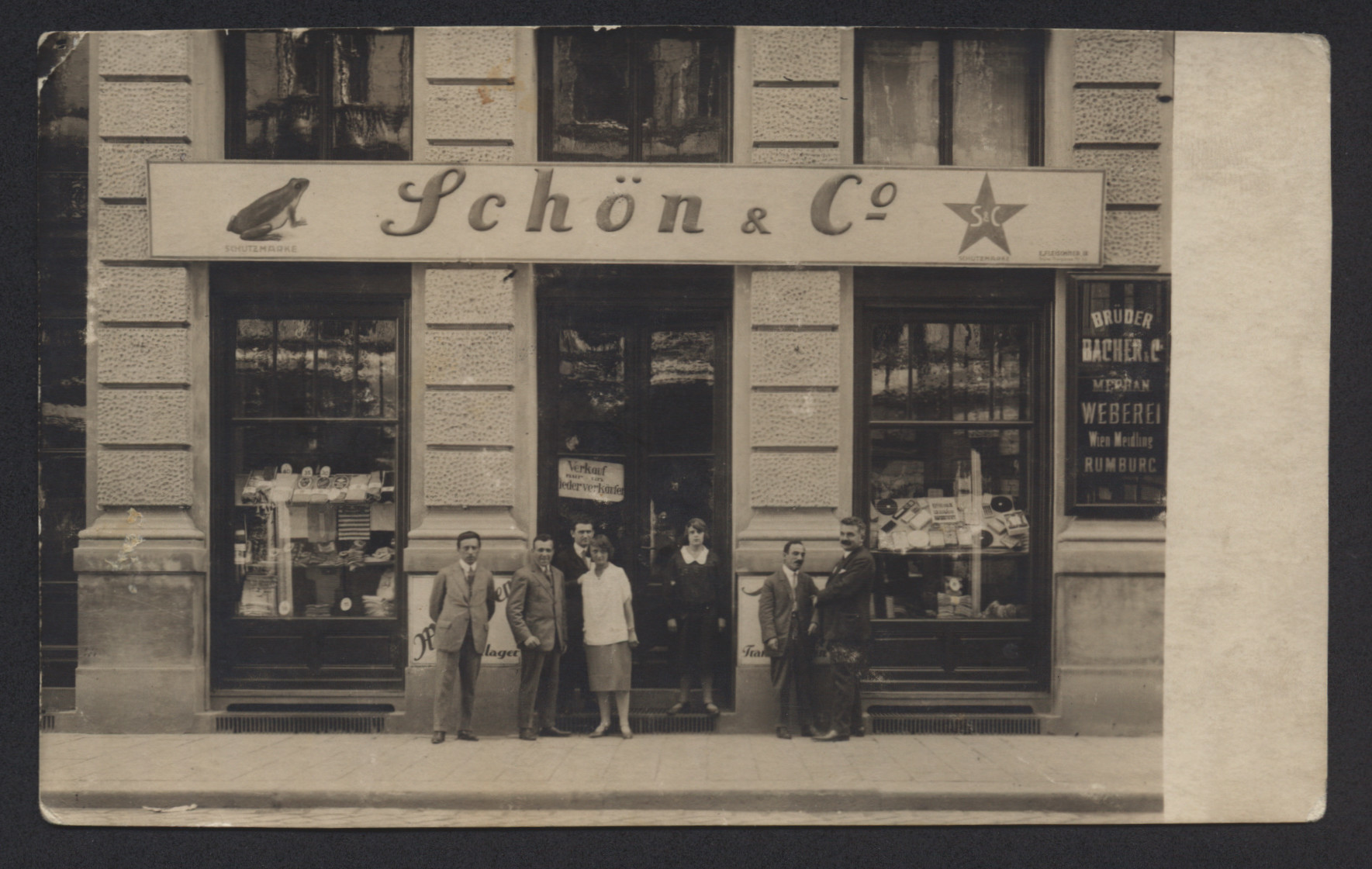 Front of the women's lingerie shop where Juda Tepper worked in Vienna.