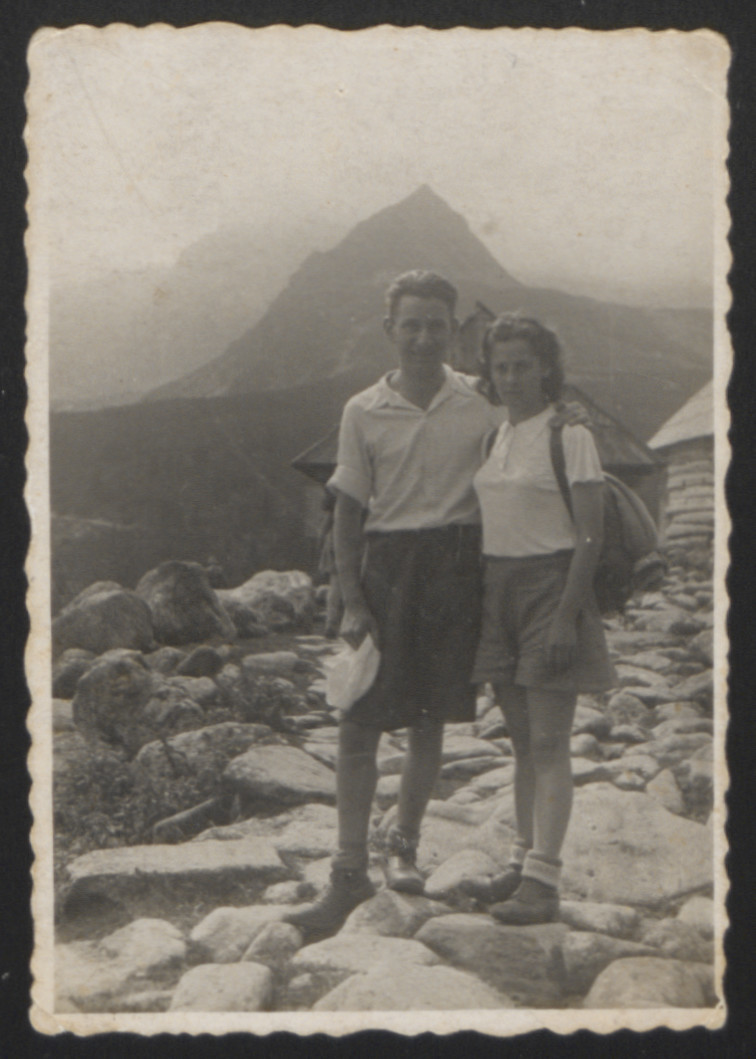Wladyslaw Holcman hikes in the Tatra Mountains,with his girlfriend and future wife, Felicja Krepel two weeks before the outbreak of war.