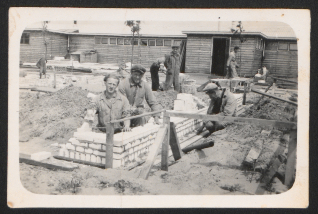 Jewish refugees doing construction work at the Westerbork camp before the German occupation of the Netherlands.