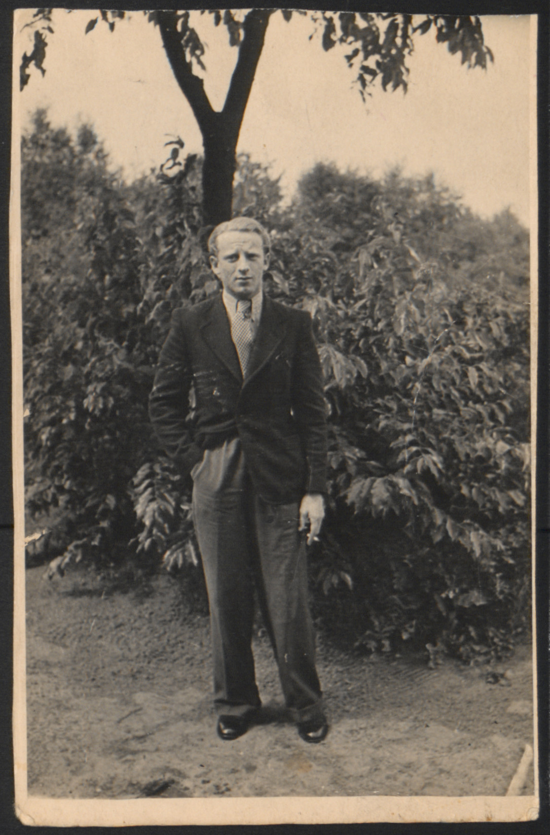 Portrait of a German Jewish refugee at the Westerbork camp before the German occupation of the Netherlands.