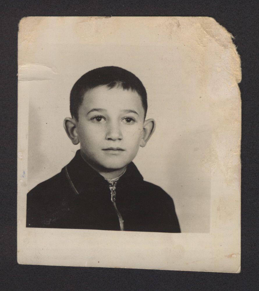 Portrait of Kalman Kaufmann (b. 1930) , who was deported to Auschwitz in May 1944 where he perished.