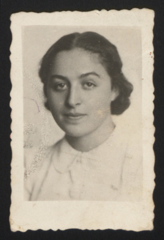 Photograph of Anita Kuenstler's mother entrusted to her rescuer in case she did not survive.