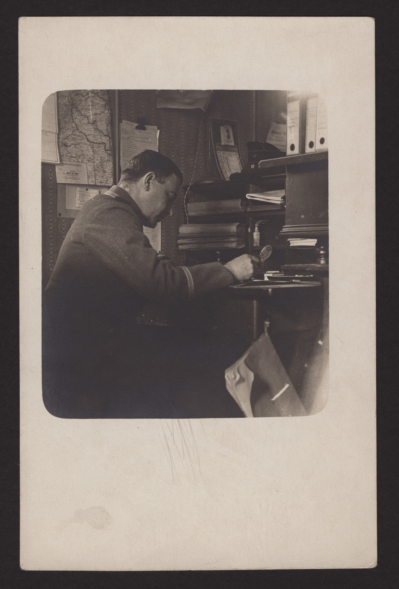 Max Levi works at his desk.