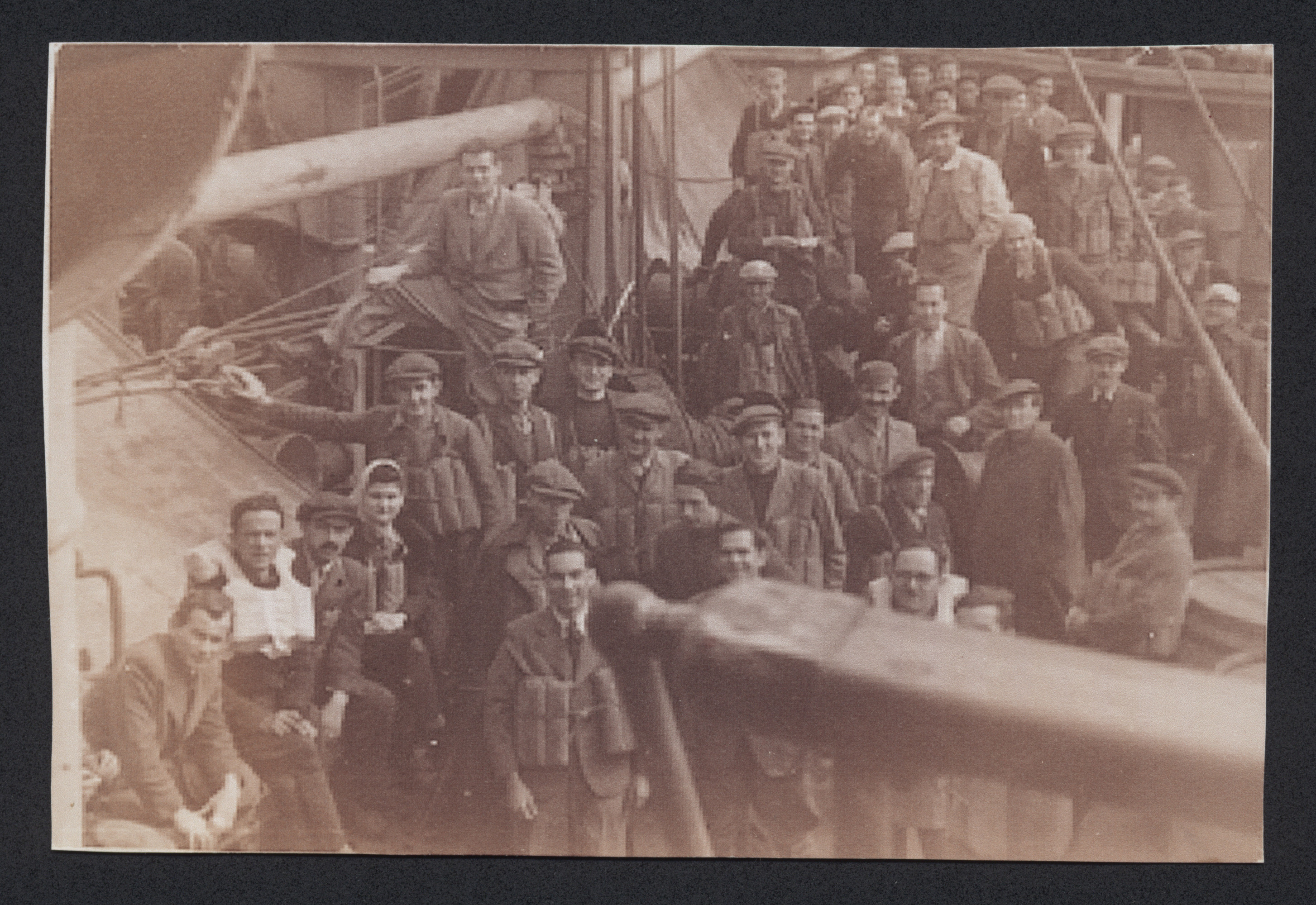 Refugees en route to Palestine on board the SS Pentcho.