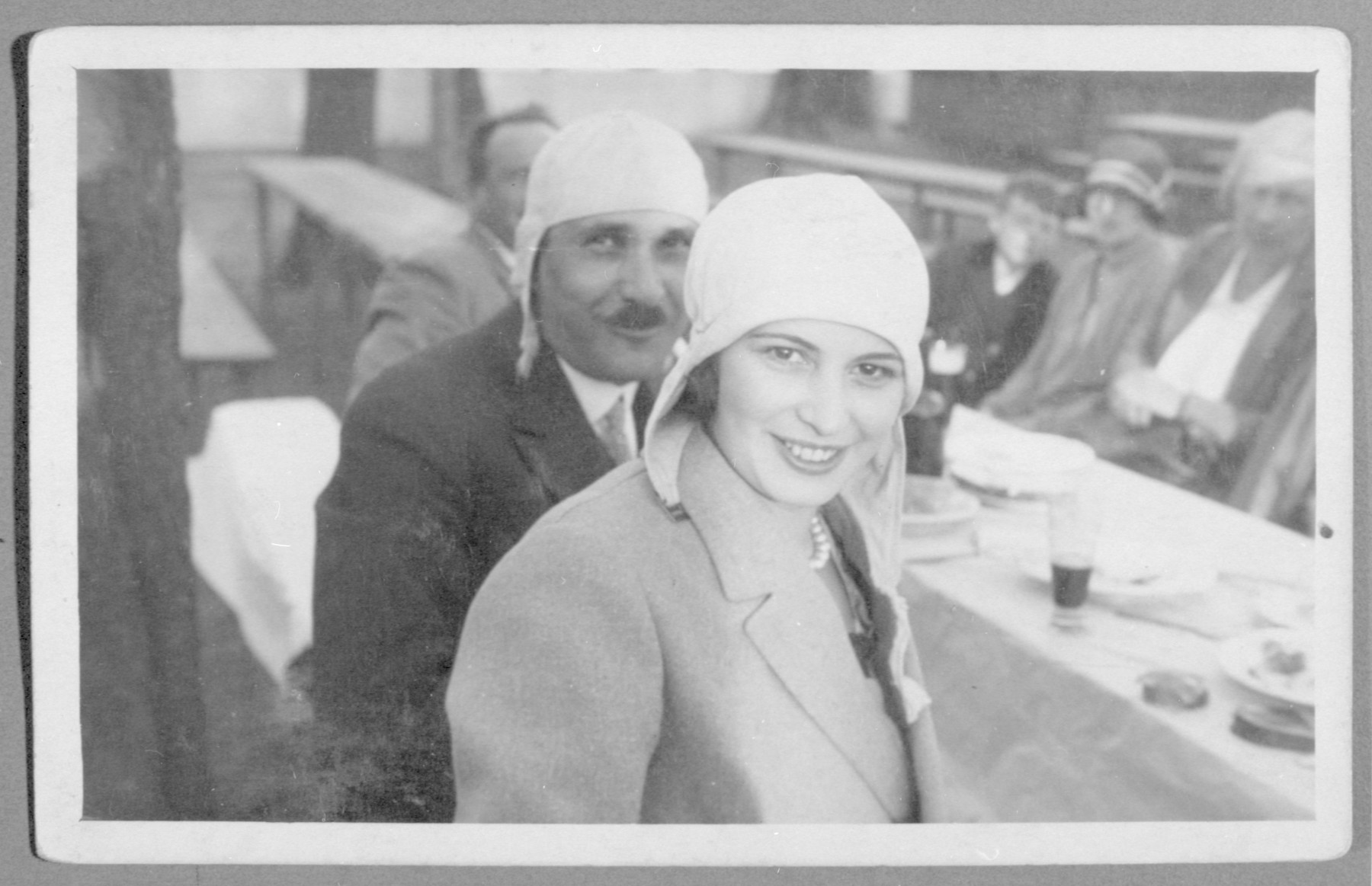 Wilhelm and Franciszka Frister pose for a photograph during an outing in the Beskidy Mountains.