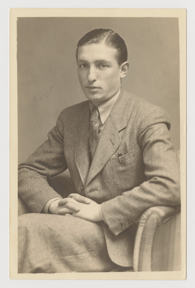 Studio portrait of Gershon Press is the Feldafing displaced persons camp.