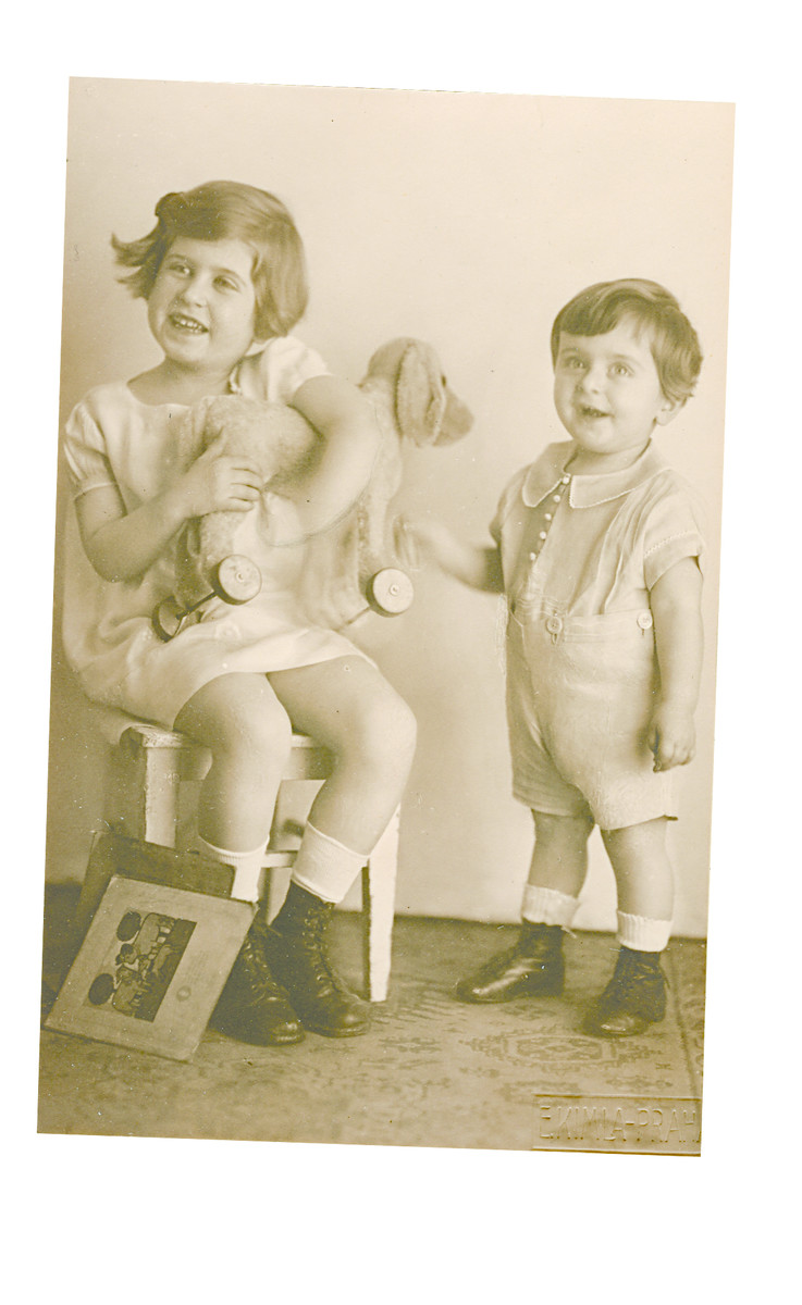 Studio portrait of Michael and Marietta Gruenbaum.