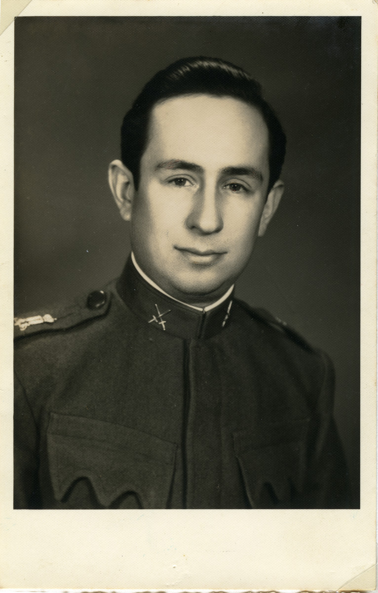 A portrait of  Lorand Lenji, a Jewish soldier in the Yugoslav army.