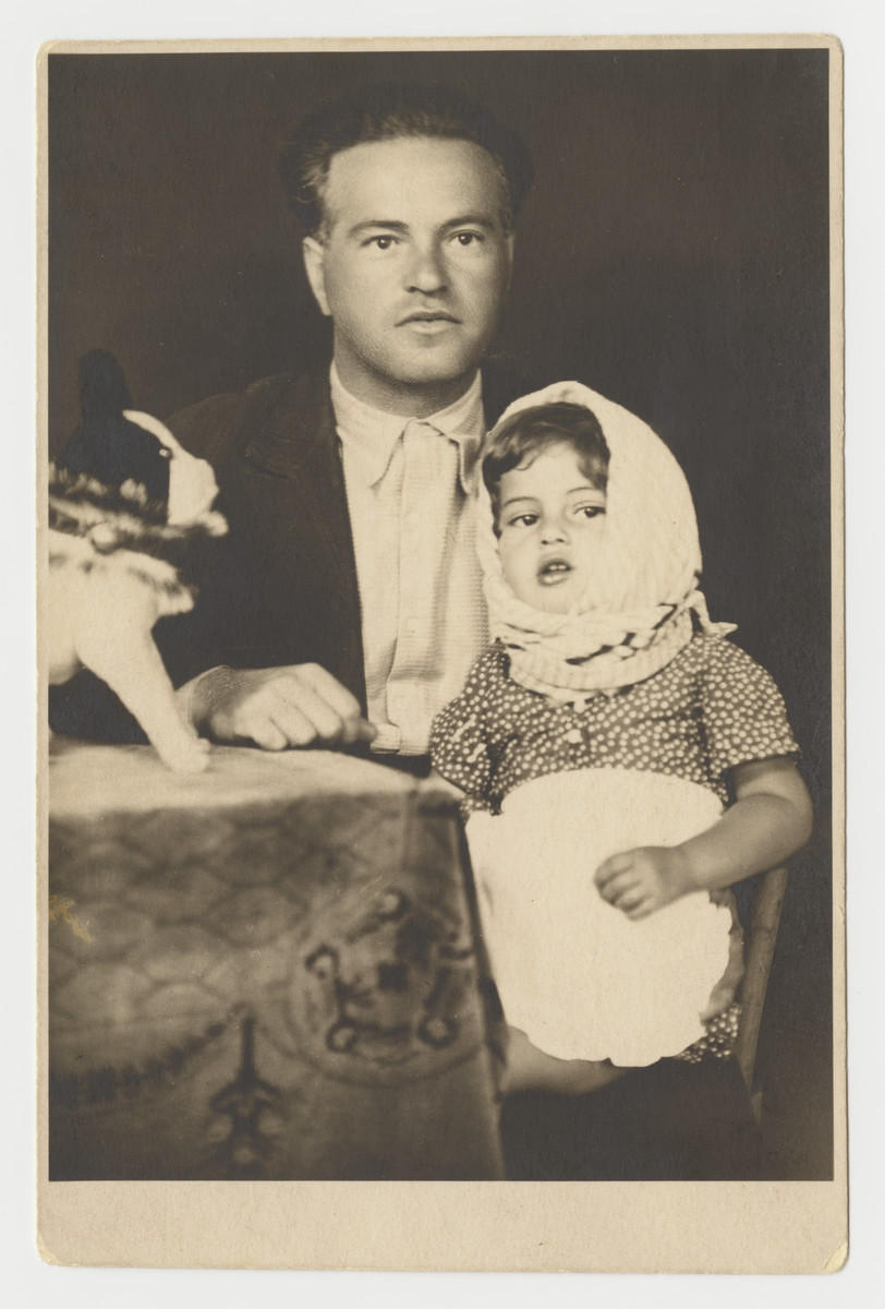 Bela Kohn (Sigmund's brother) and his daughter Vera.  She died of cancer before the war and he perished.