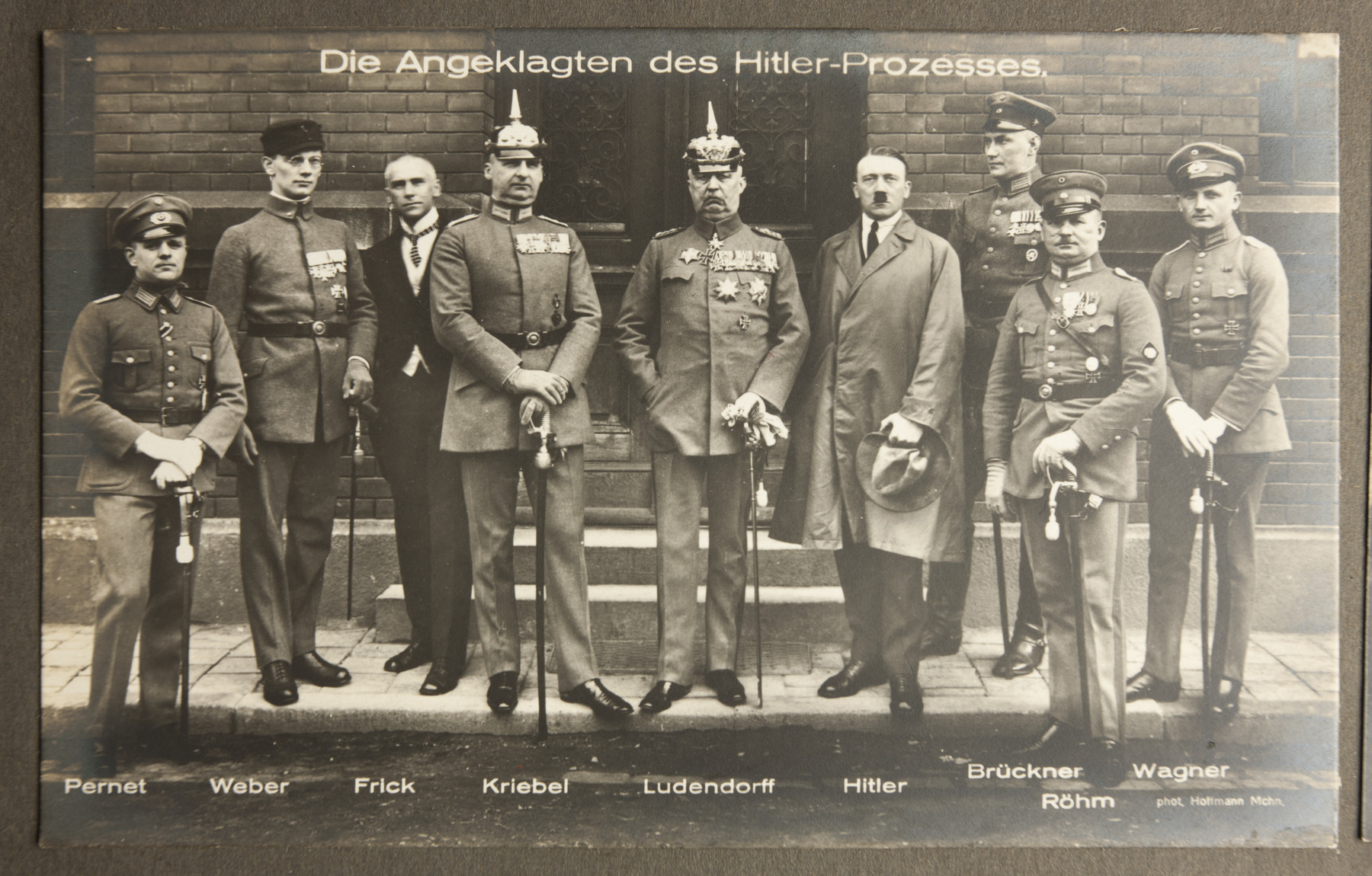 Adolf Hitler and his co-conspirators in the 1923 Beer Hall Putsch in Munich.