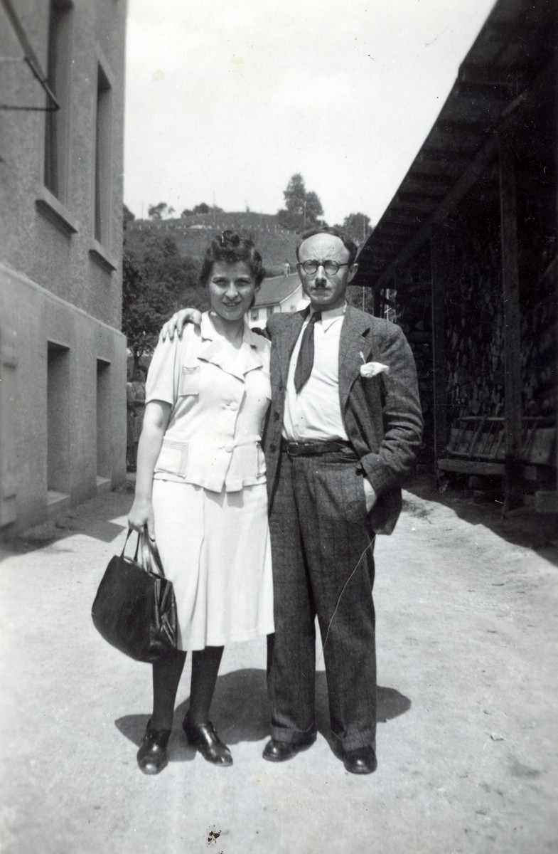Leo Ermann visits his wife Toni at the recuperation home where she recovered after crossing the border into Switzerland.