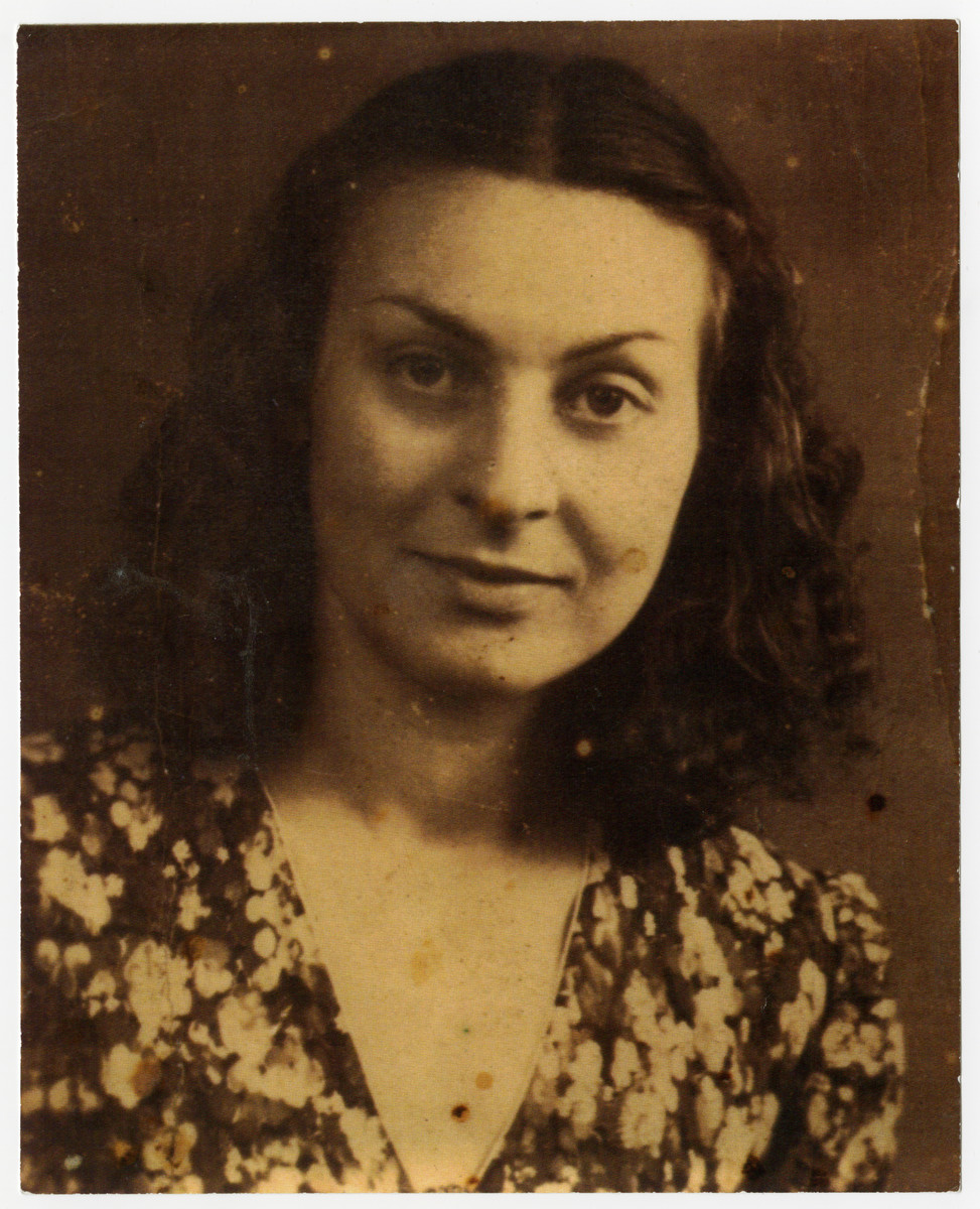 Portrait of Andree Romain (Delforges), Righteous Among the Nations and the rescuer of the donor.  She was tthe older of the two sisters who hid the donor and a dozen other Jewish children, for nearly three years of the war- January 1943 to early in 1945.  She died in 1965, in her mid forties.