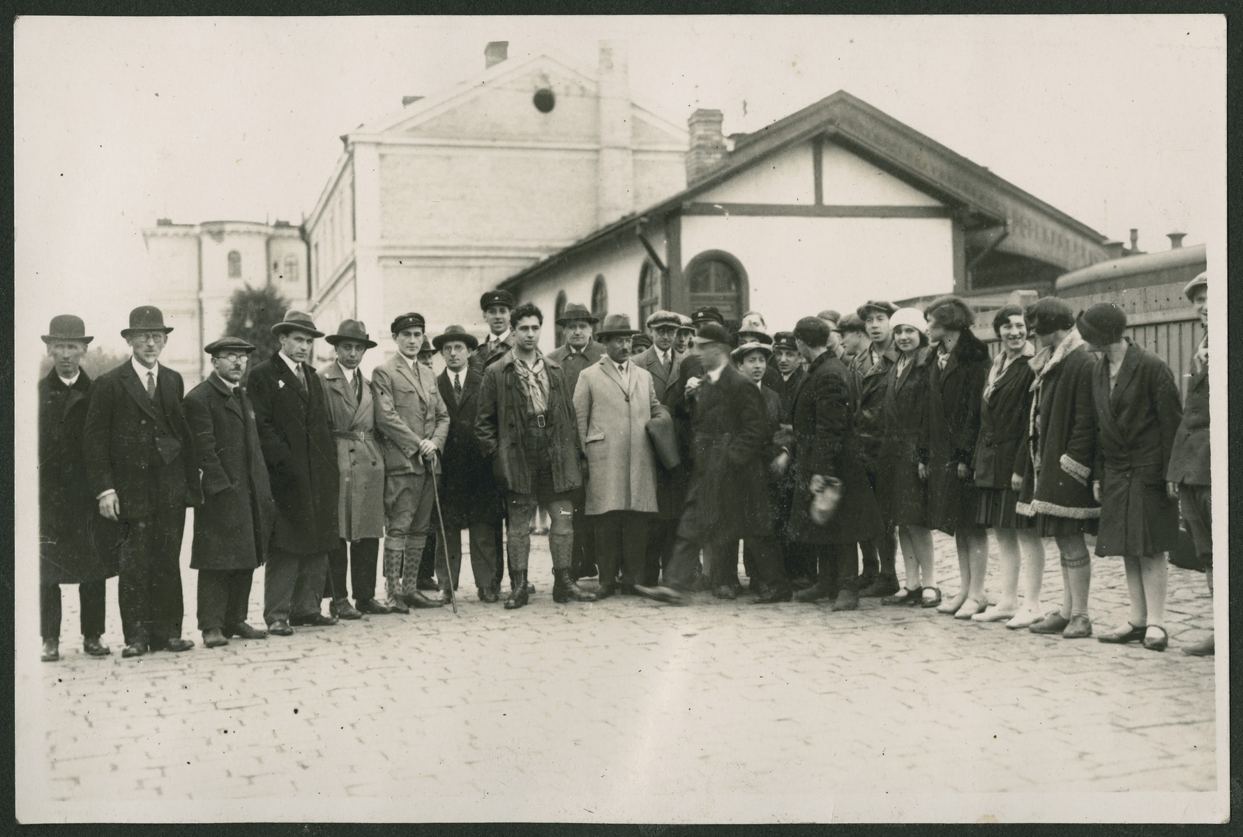 Group portrait of Zionist activists either in Latvia or Lithuania.