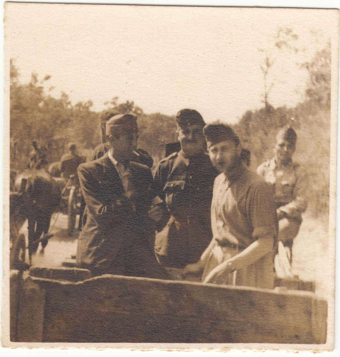 Group portrait of Hungarian Jews in a labor battalion in Hajduhadhaz.