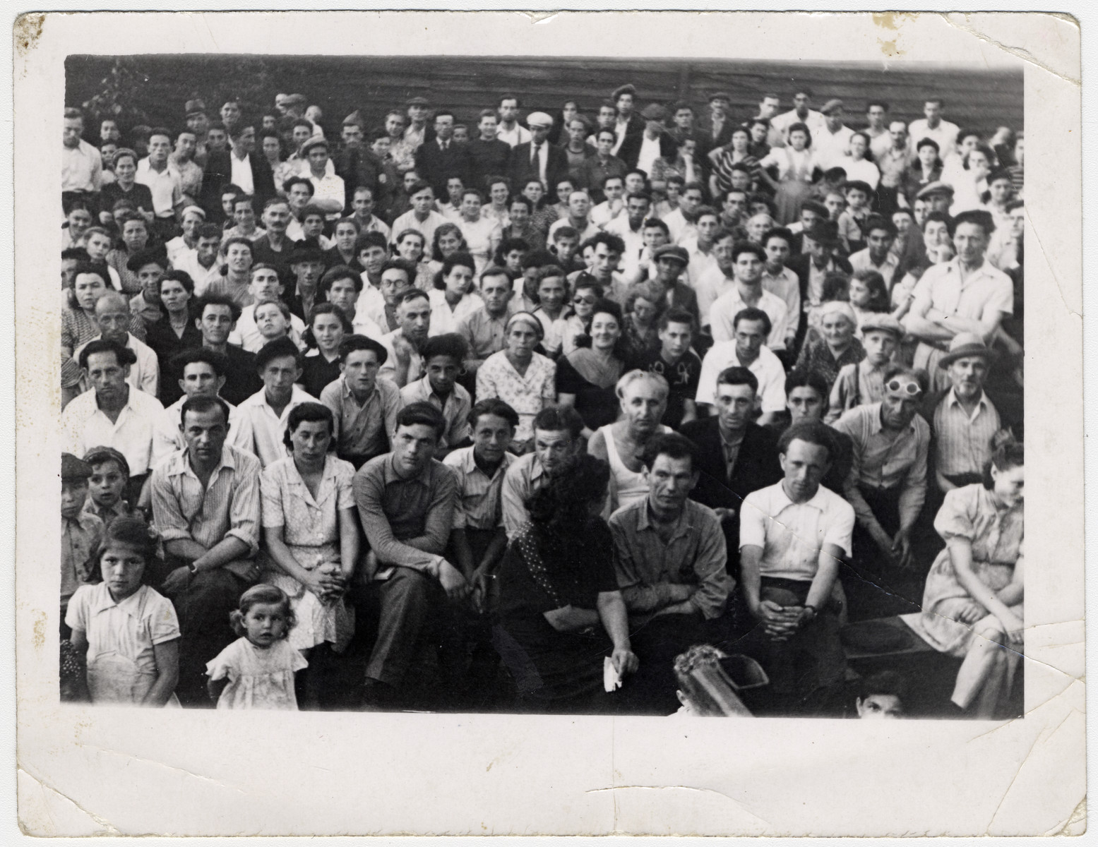 Jewish displaced persons attend a Zionist rally in the Ziegenhain displaced person's camp.