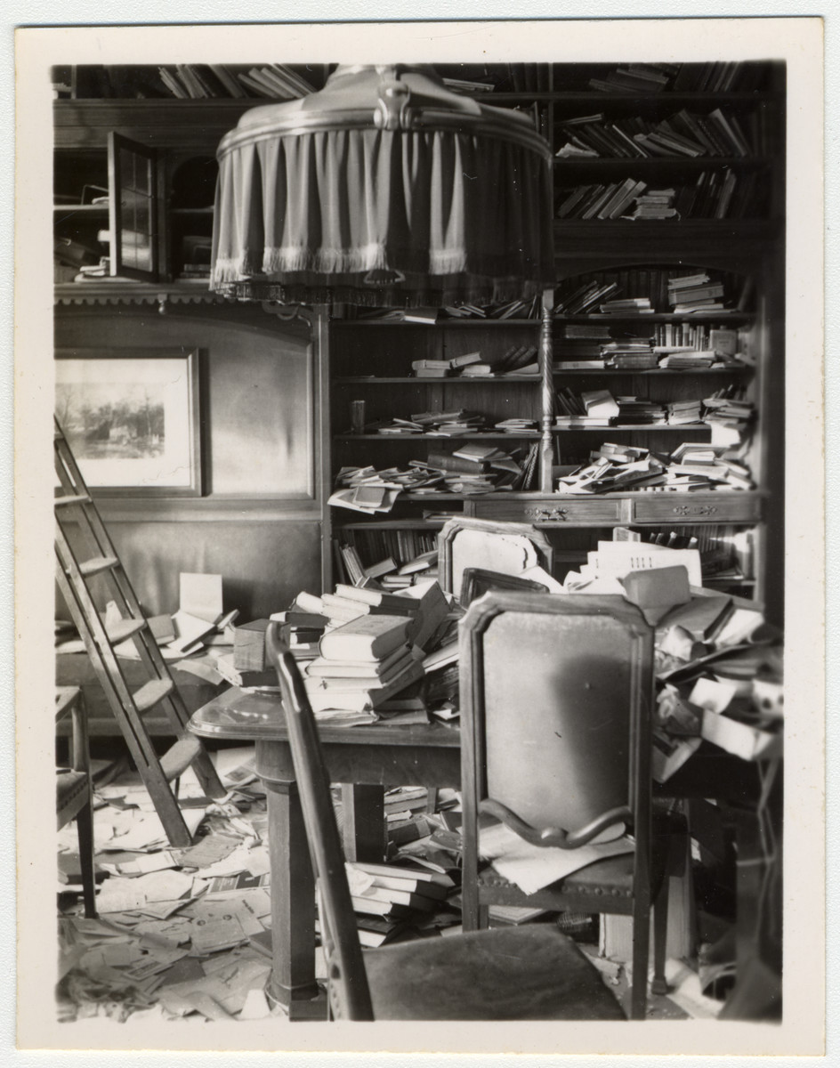 Interior view of a looted room.
