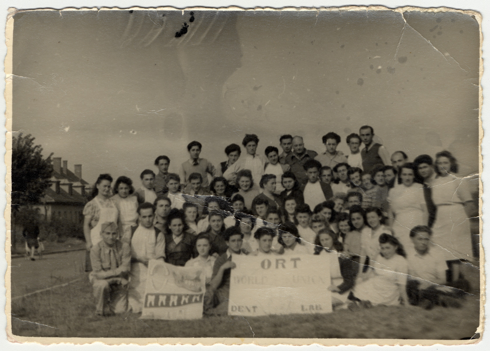 Group portrait of students at the ORT dental technician school in the Bergen-Belsen displaced persons camp.