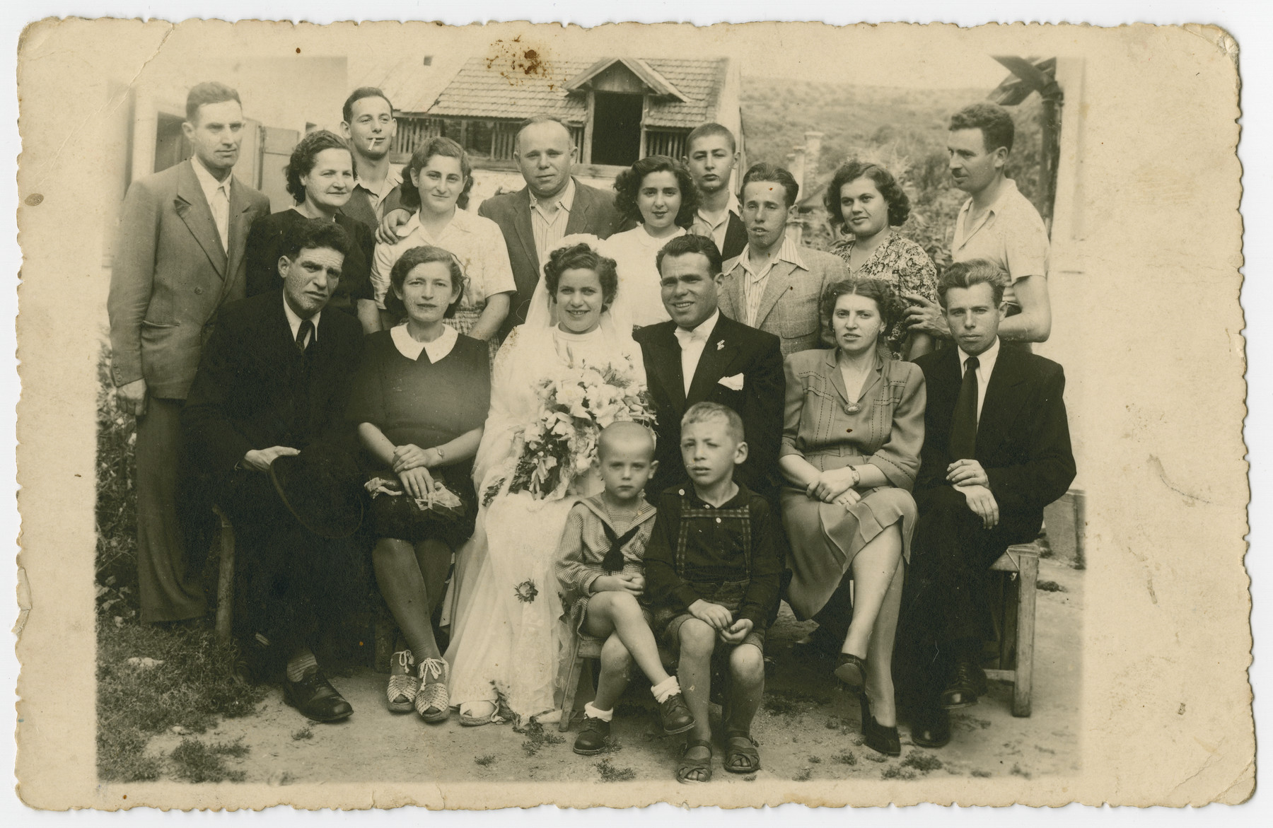 The wedding of Piri Hershkowitz and Karoly Klein.