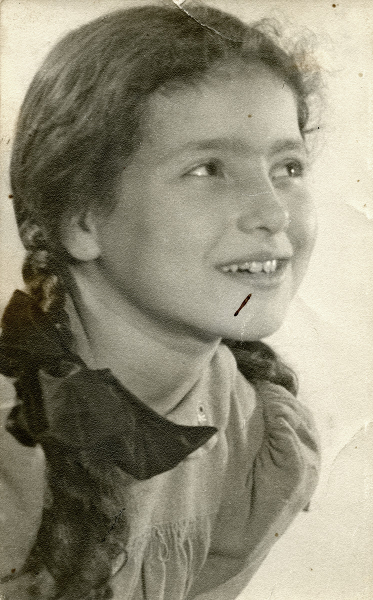 Portrait of ten-year-old Ruth Tal.  She perished in Bergen-Belsen three years later.
