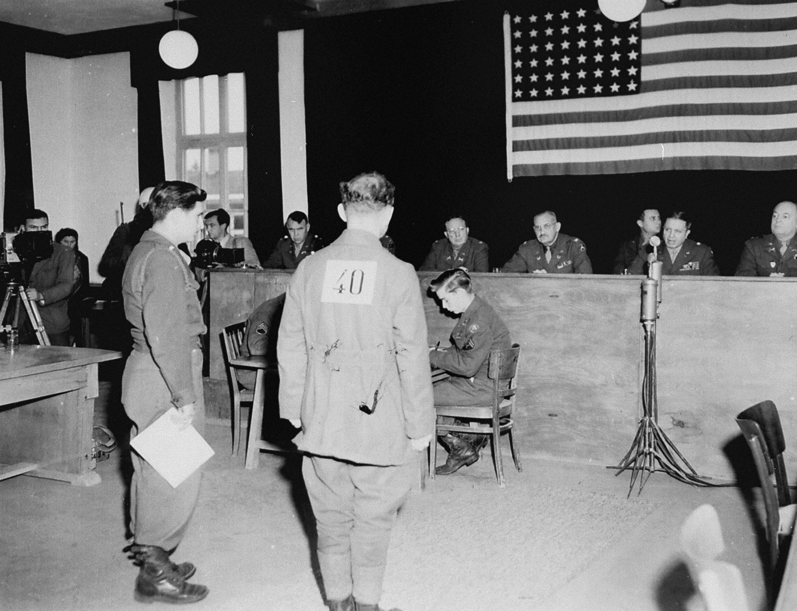 Former SS-Sturmbannfuehrer Friedrich Weitzel, the officer in charge of food and clothing distribution in Dachau, is sentenced to death by hanging by the American military tribunal hearing the trial of former camp personnel and prisoners from Dachau.
