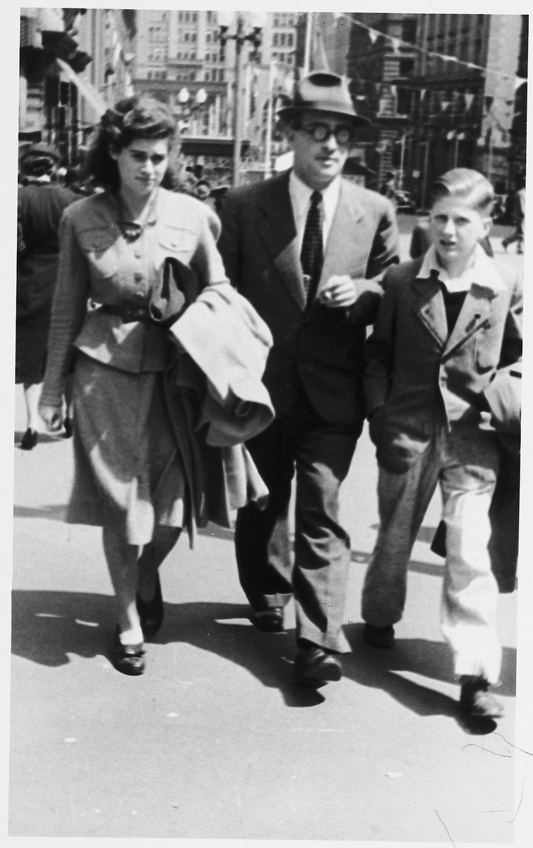 Peter Watkins greets his stepchildren, Gerhard and Sylvia, upon their arrival in Sydney.
