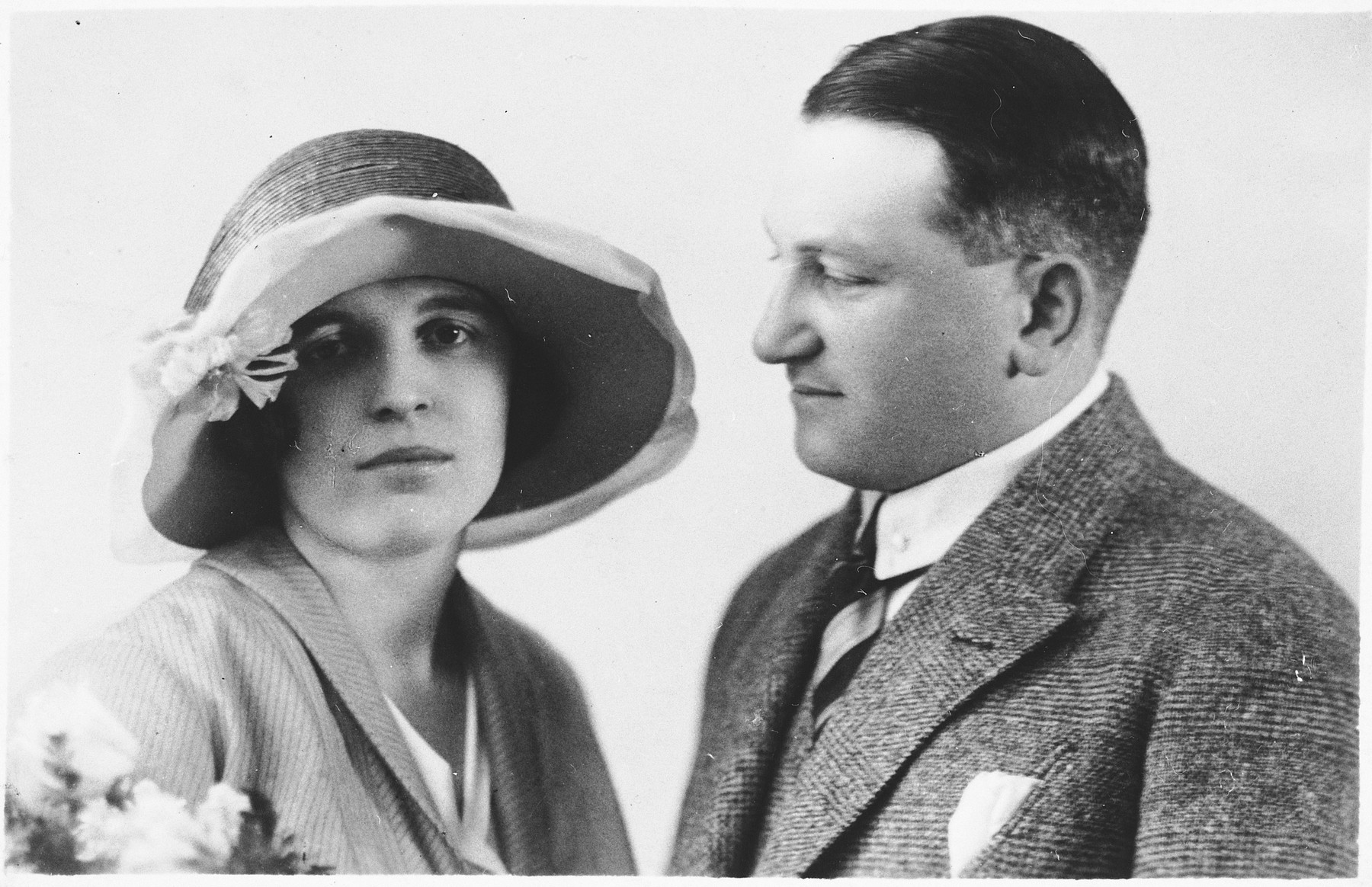 Portrait of a Czech Jewish couple.  Pictured are Lyduska and Tony Kares. They later perished in Auschwitz.