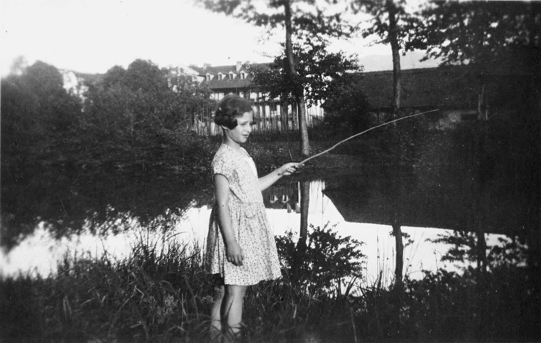 Edith Goldapper goes fishing while on vacation in Eibiswald.