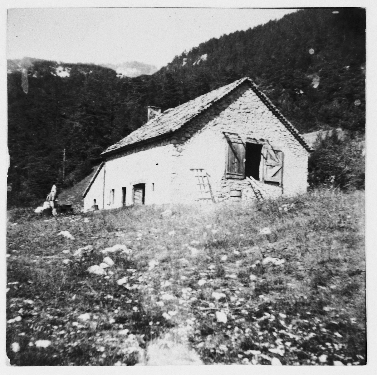 View of the mountain residence in Col de Menee where Eryk Goldfarb hid out during the German occupation of France.