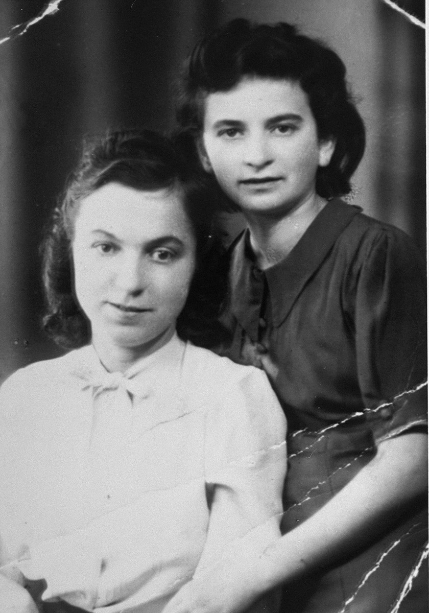 Elka Perl (now Borenstein) with her rescuer. She was hidden by a German officer and his wife who did not know she was Jewish. Elka pretended she was a Christian named Elka Korn.