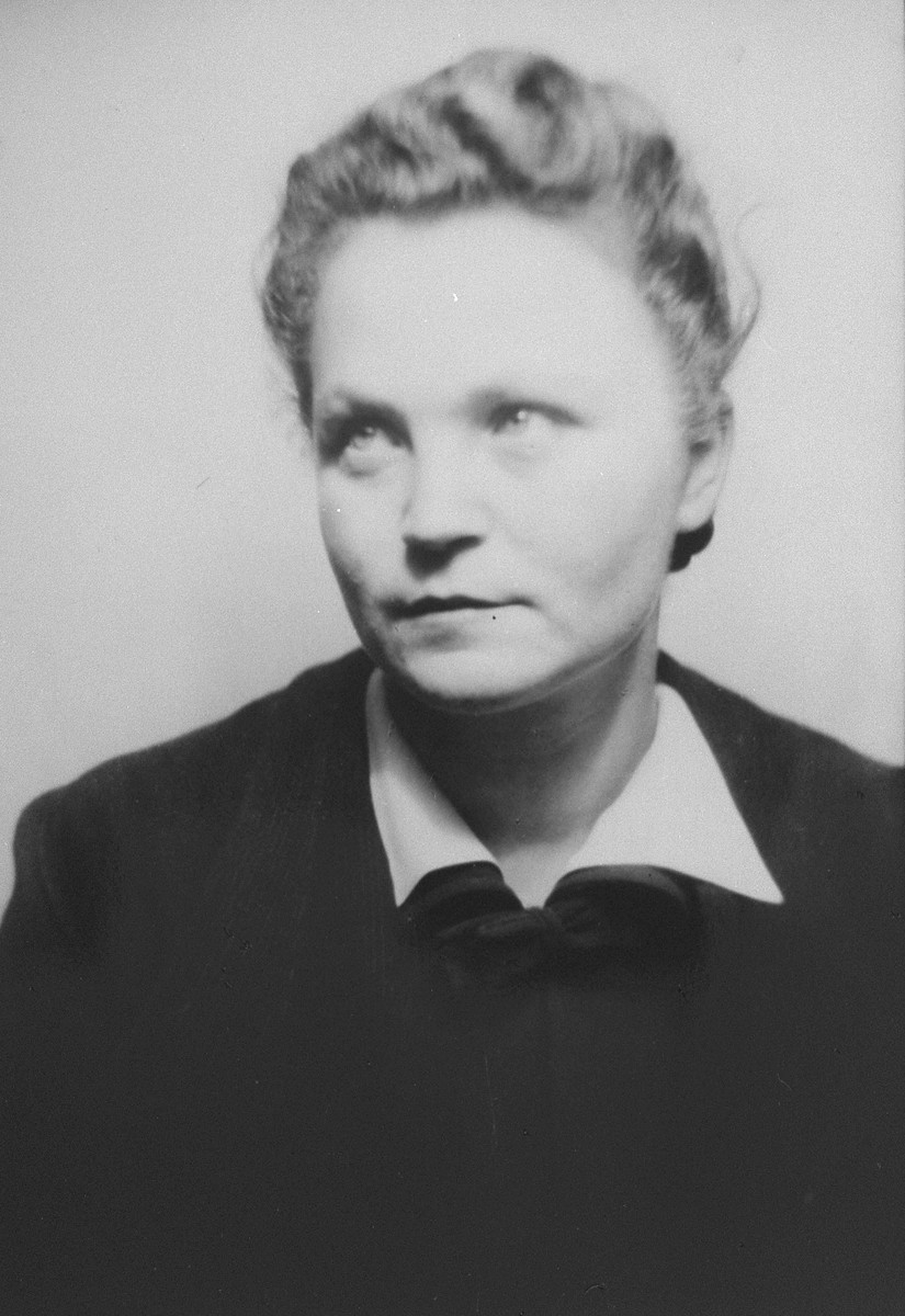 Portrait of Adela Litwak, a young Jewish woman living in hiding in Krakow.