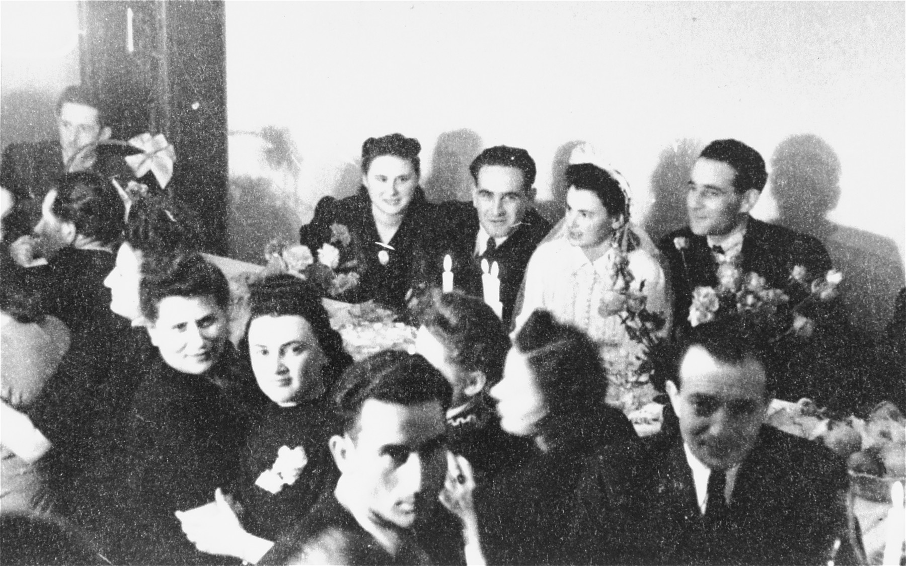 Displaced persons celebrate a wedding in Stuttgart.