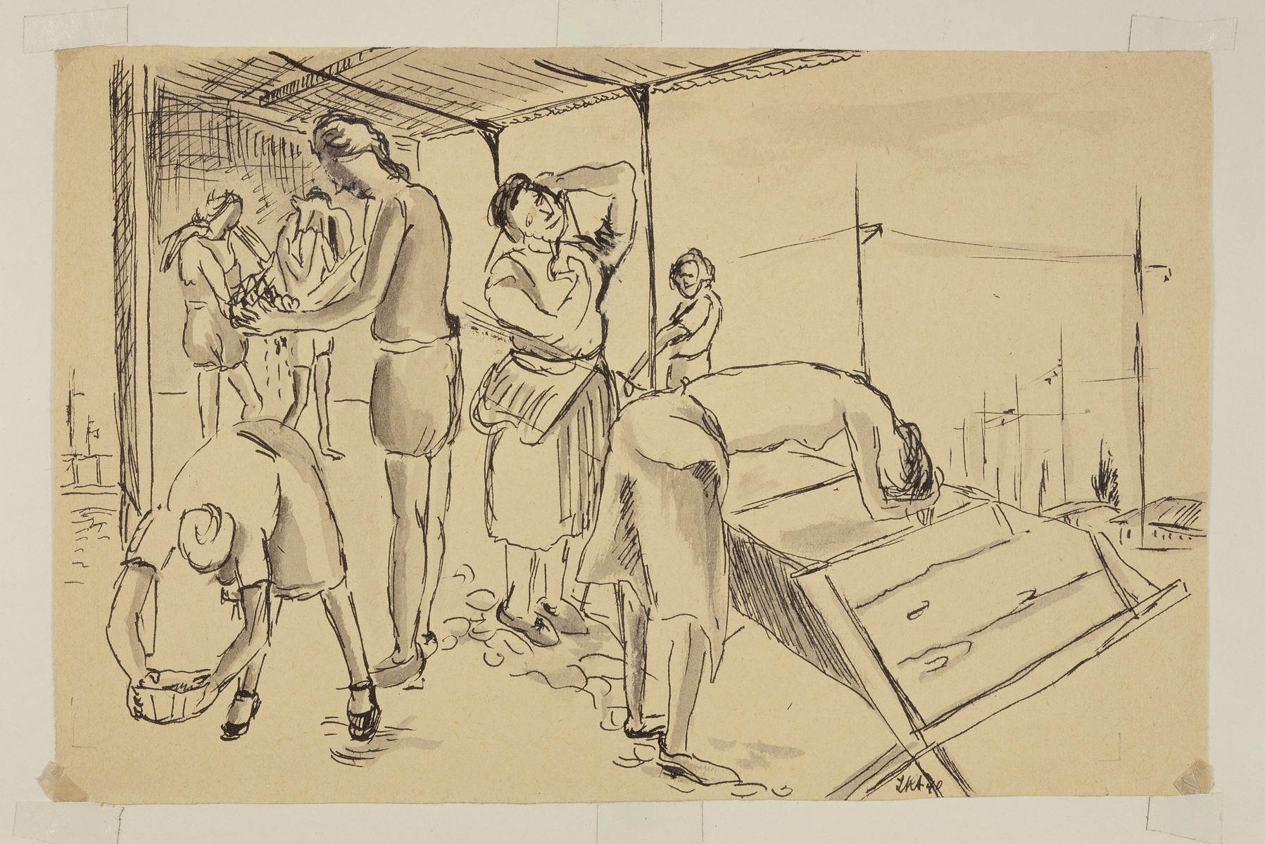 """""""Women Washing Themselves (Version I)"""" by Lili Andrieux."""