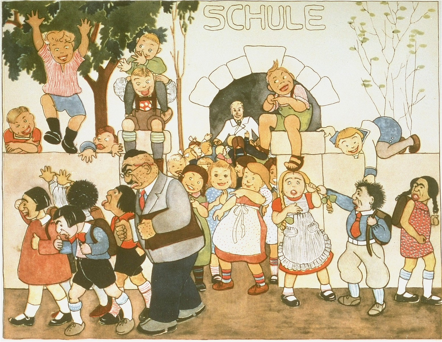 """Page from the anti-Semitic German children's book, """"Trau Keinem Fuchs..."""" (Trust No Fox in the Green Meadow and No Jew on his Oath)"""